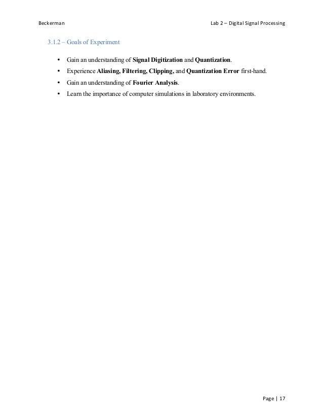 Joshua Beckerman Mae 315 Lab 2 Final Report