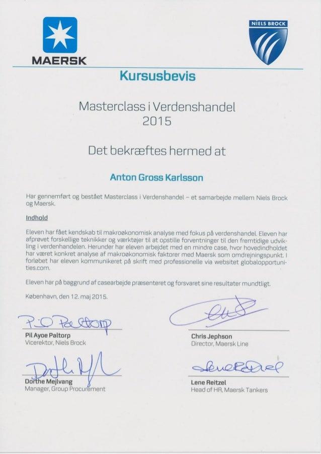 Maersk Masterclass Diploma