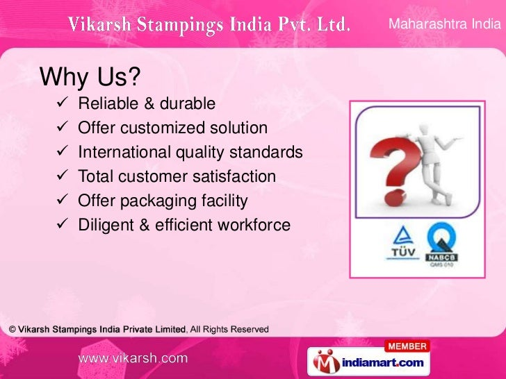 Maharashtra IndiaWhy Us?    Reliable & durable    Offer customized solution    International quality standards    Tota...