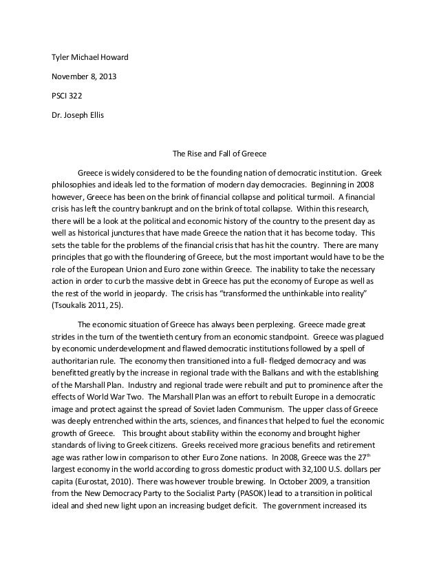 Essay on greece