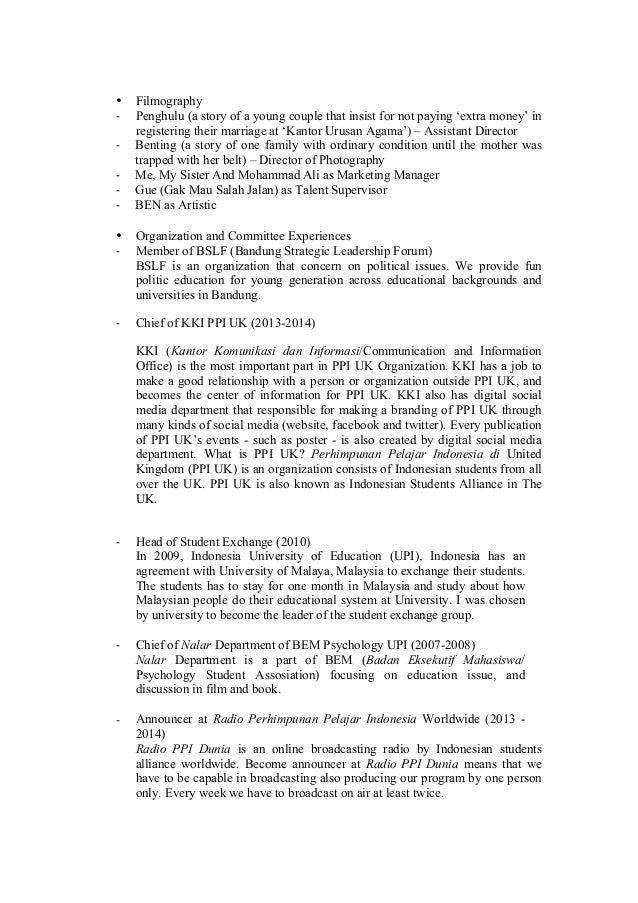 what does cv means in indonesia directeur régional exemple de cv