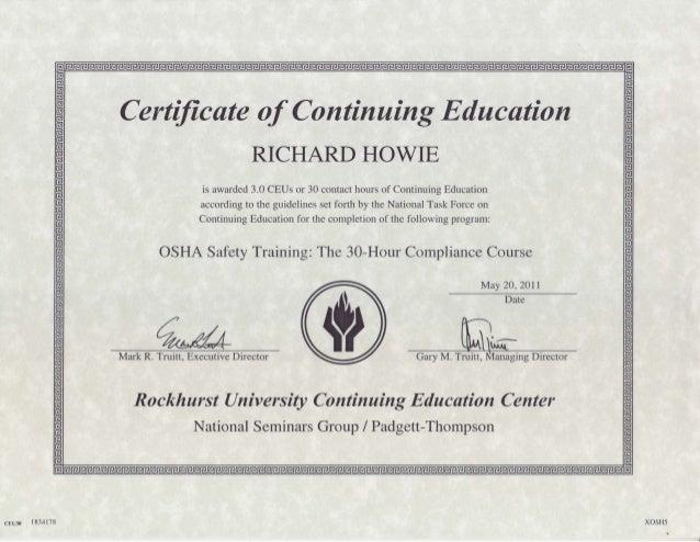 Osha 30 Hr Compliance Certificate Pdf