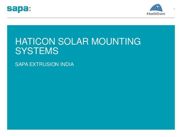 HATICON SOLAR MOUNTING SYSTEMS SAPA EXTRUSION INDIA 1