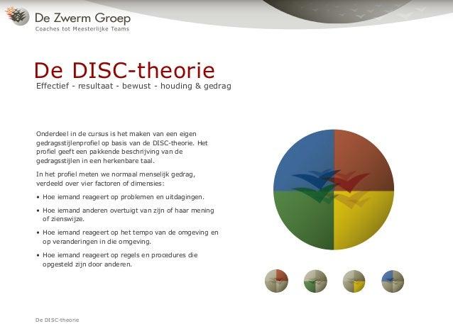 Onderdeel in de cursus is het maken van een eigen gedragsstijlenprofiel op basis van de DISC-theorie. Het profiel geeft ee...