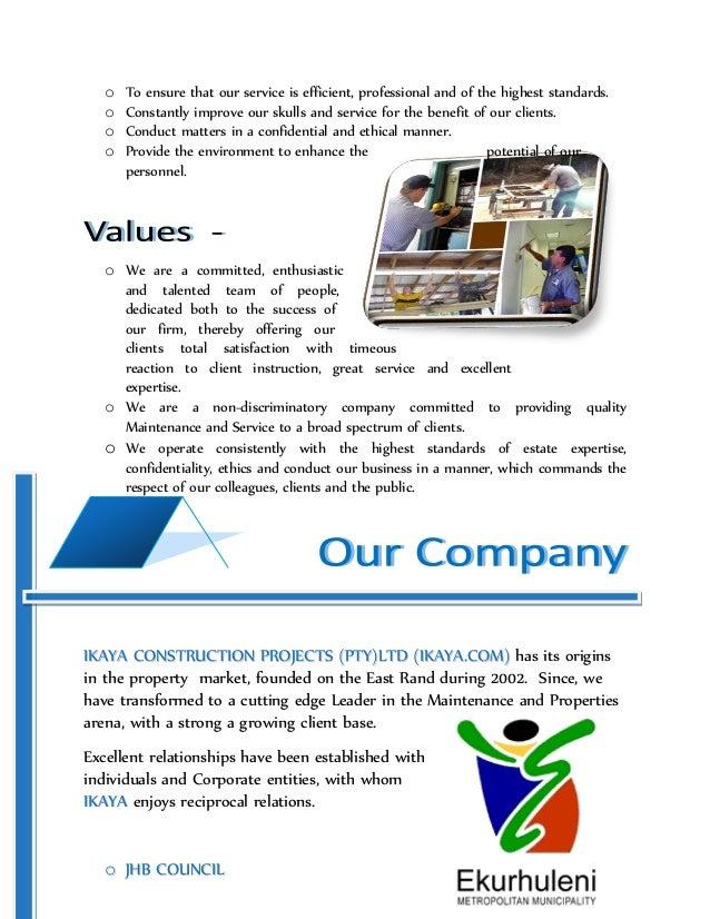 Writing a business profile pdf