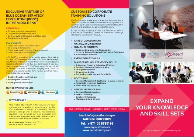 exeed corporate training flyer