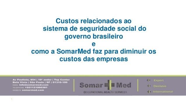 1 Custos relacionados ao sistema de seguridade social do governo brasileiro e como a SomarMed faz para diminuir os custos ...