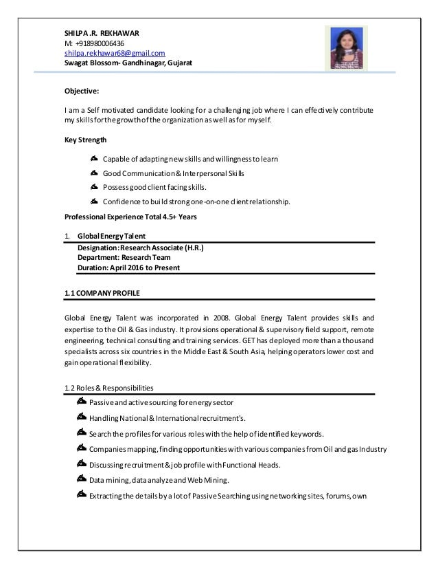 Resume Shilpa