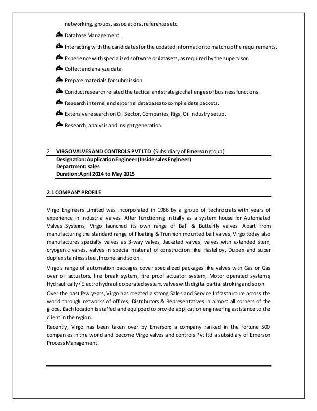 Modern Emerson Process Management Resume Illustration - Best Resume ...