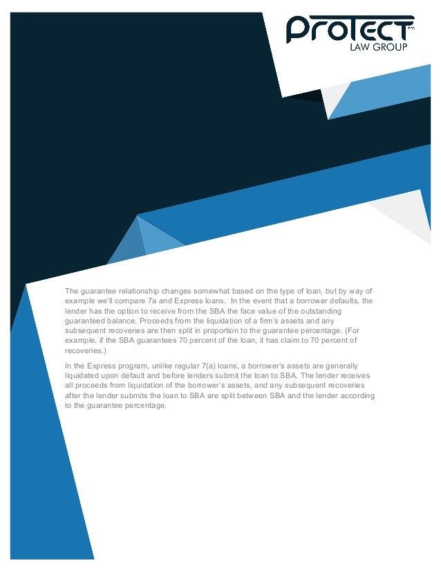 White Paper Sba Guarantees And Divorce