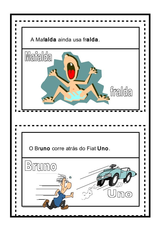 A Mafalda ainda usa fralda. O Bruno corre atrás do Fiat Uno.