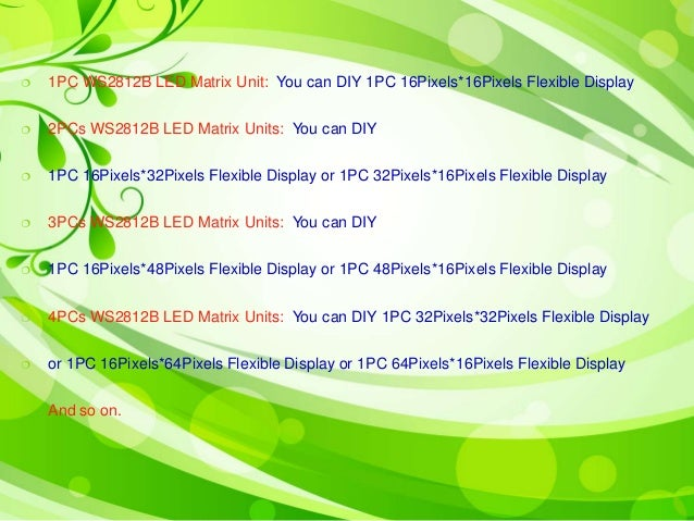 How to enlarge ws2812 b led matrix panel