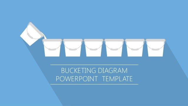 BUCKETING DIAGRAM POWERPOINT TEMPLATE