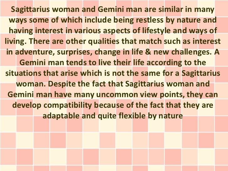 How compatible are sagittarius and gemini