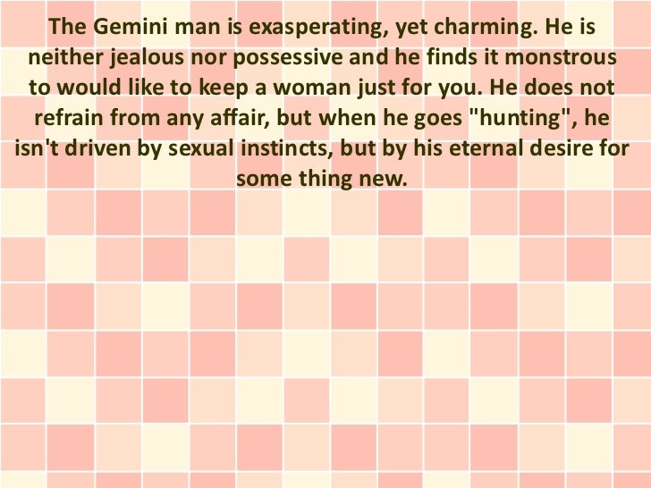 How to know when a gemini man likes you