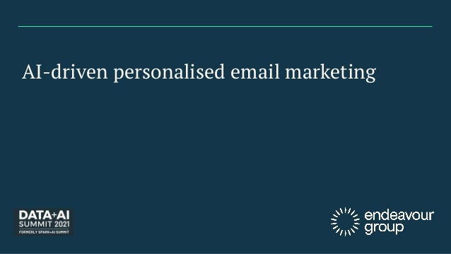 AI-driven personalised email marketing