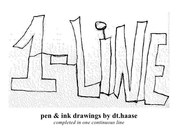 pen & ink drawings by dt.haase completed in one continuous line