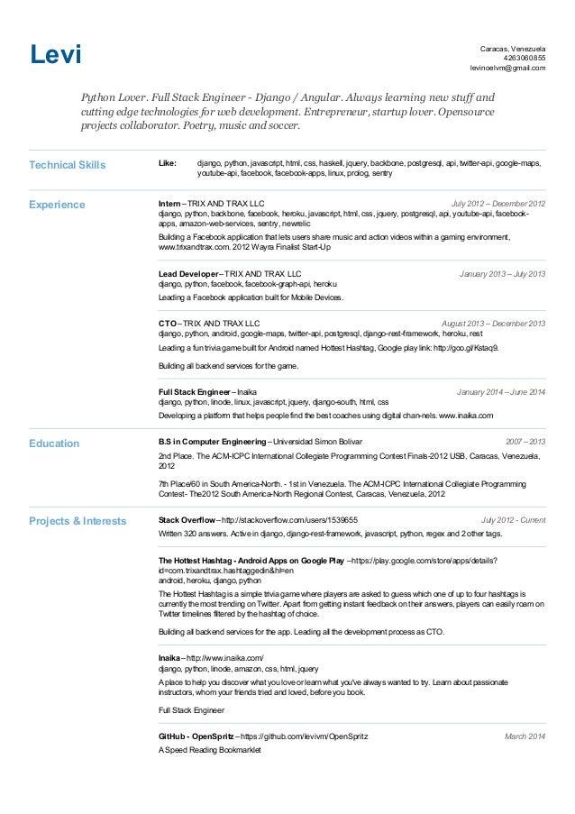Levi's Resume