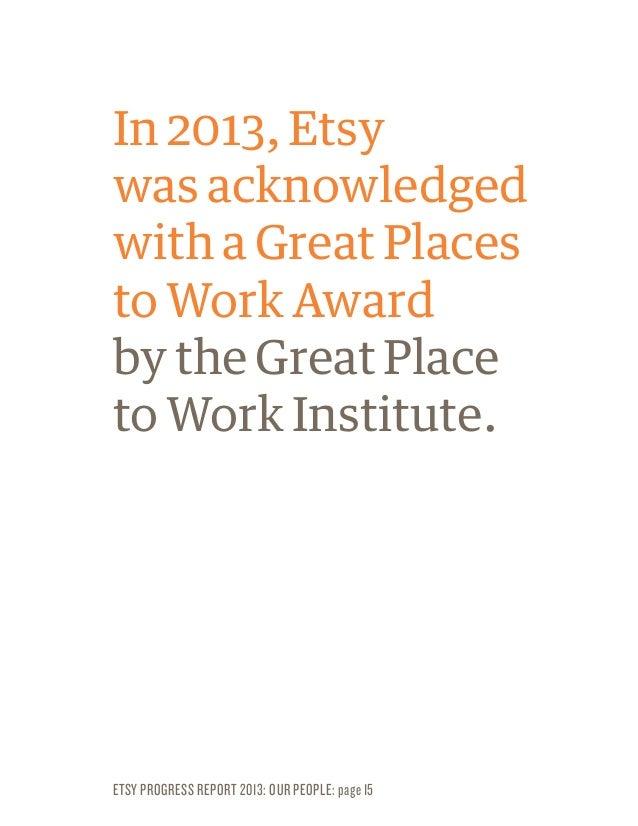 Etsy Progress Report- 2013