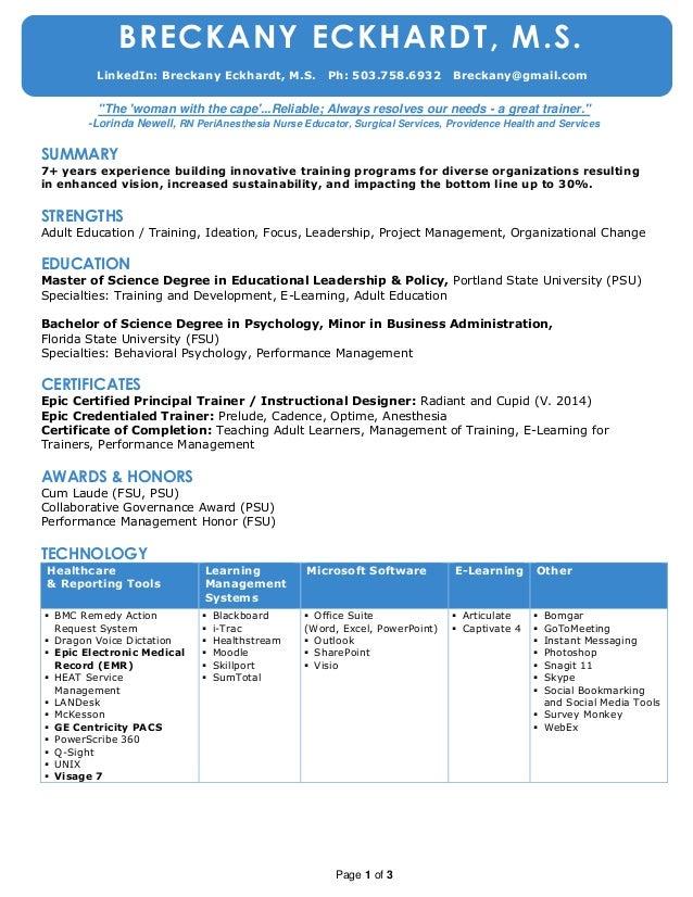 Resumechronologicaleckhardtbreckanymay2015