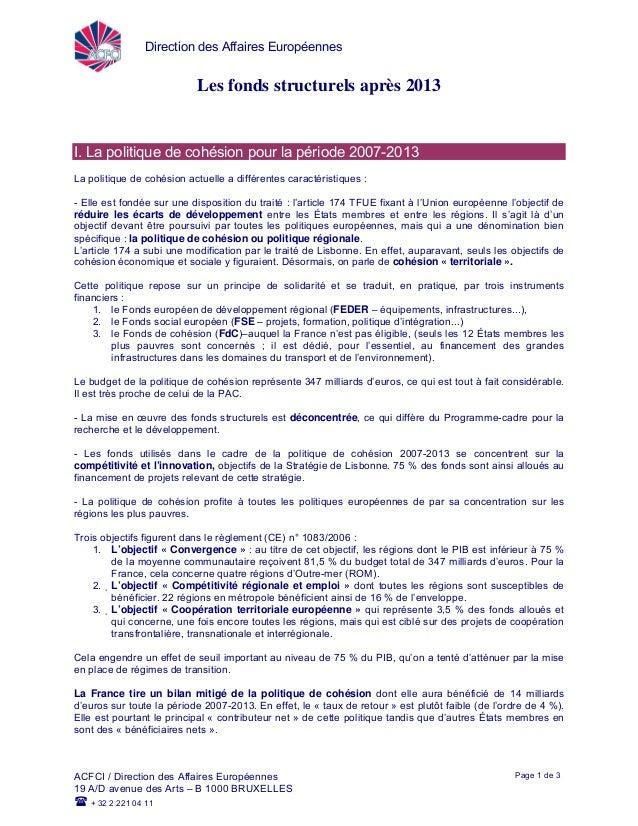 Direction des Affaires EuropéennesACFCI / Direction des Affaires Européennes19 A/D avenue des Arts – B 1000 BRUXELLES+ 32 ...