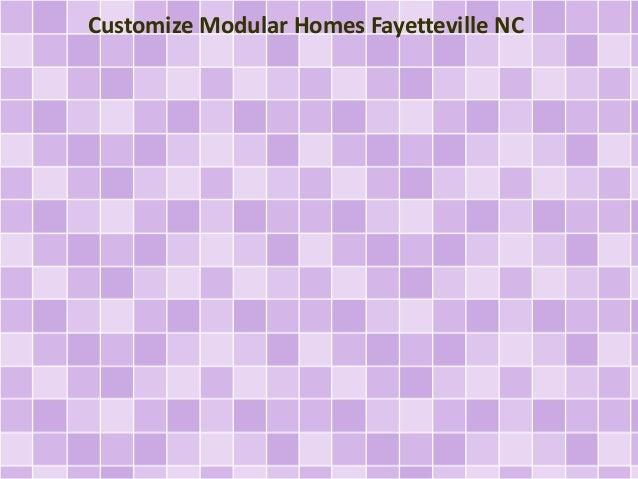Customize Modular Homes Fayetteville NC