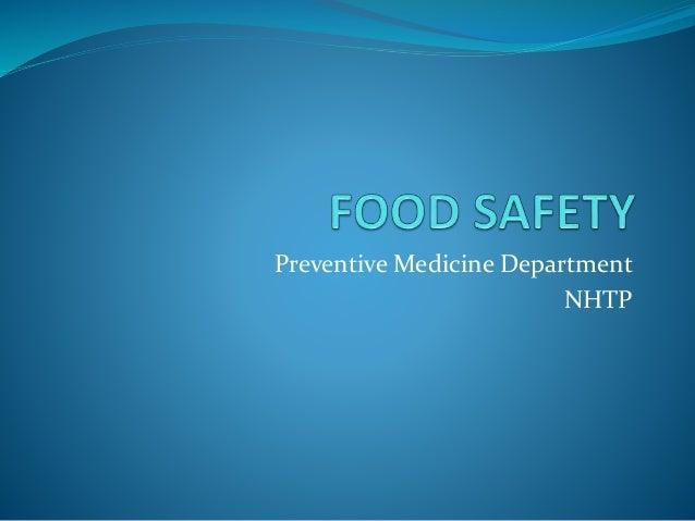 Preventive Medicine Department NHTP