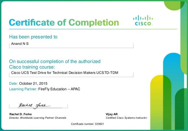 Cisco Certified Course Completion Certificate_1510101