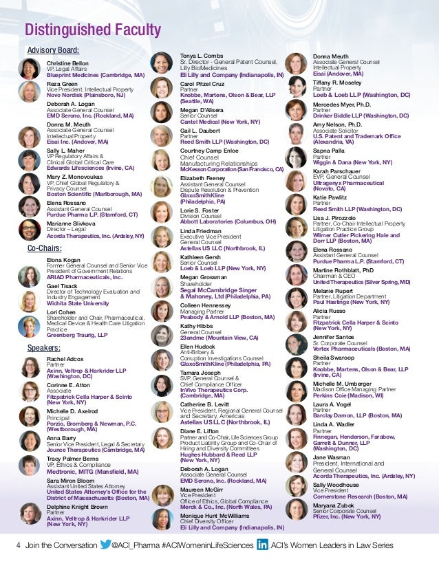 Agenda and complete speakers list for women in life sciences law 4 malvernweather Choice Image