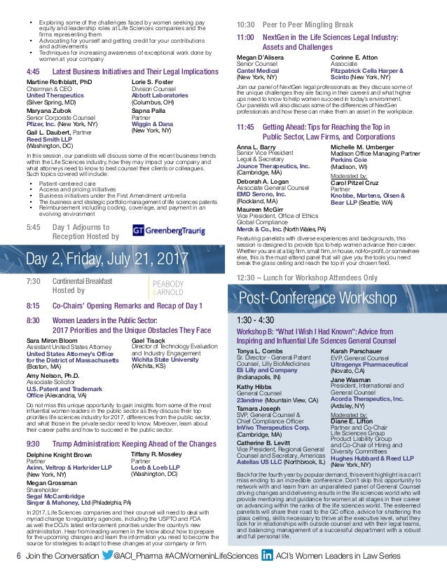 Agenda And Complete Speakers List For Women In Life