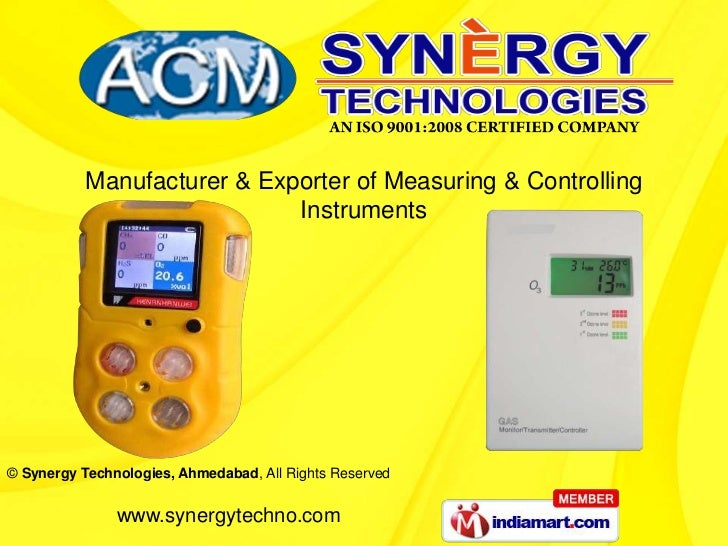 Manufacturer & Exporter of Measuring & Controlling                             Instruments© Synergy Technologies, Ahmedaba...