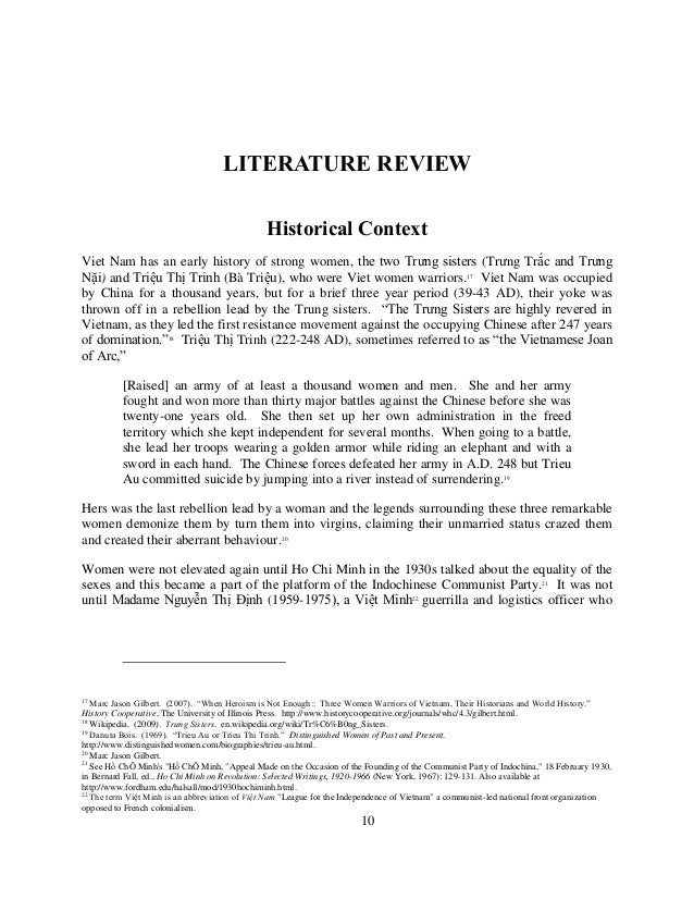 Literature review on gender equality