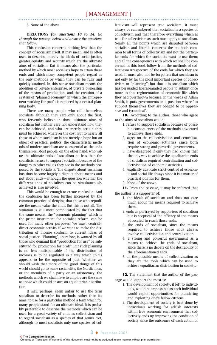 Dissertation Question -- XAT 2018