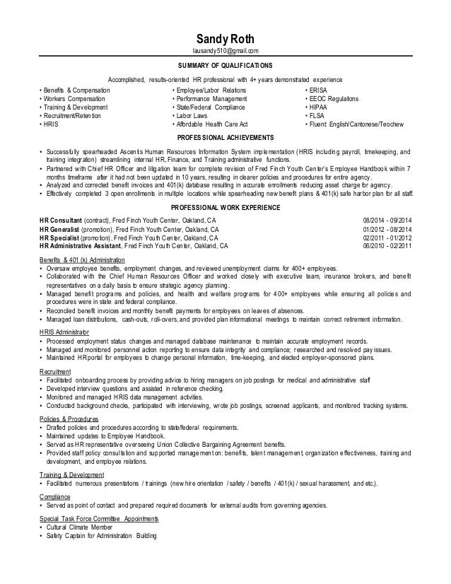 s  roth resume