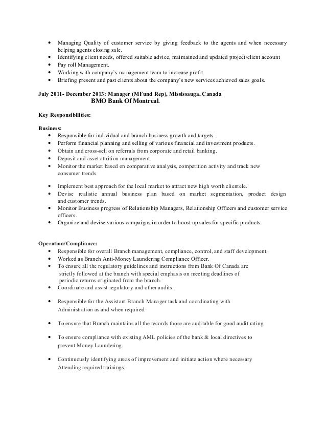 Managing Weekly Project Goals Resume
