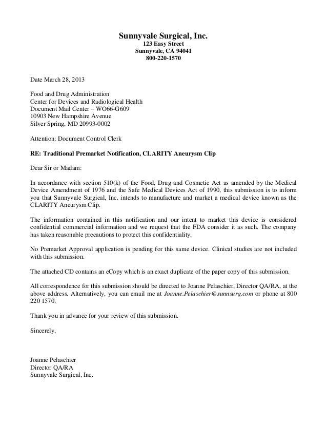 qdia notice cover letter