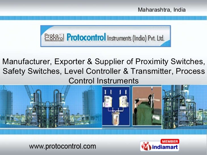 Manufacturer, Exporter & Supplier of Proximity Switches, Safety Switches, Level Controller & Transmitter, Process Control ...