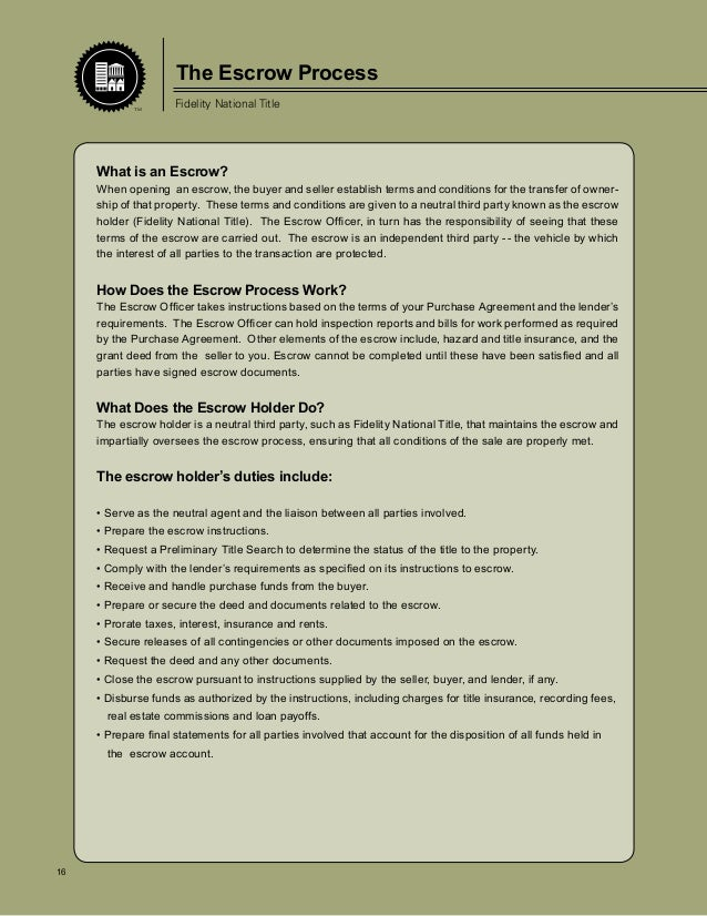 Sellers Guide with Fidelity Title Co.