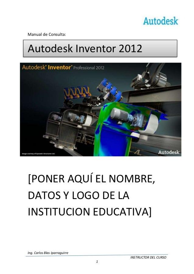 manual autodesk inventor 2012 rh es slideshare net manual autodesk inventor 2014 tutorial autodesk inventor 2014