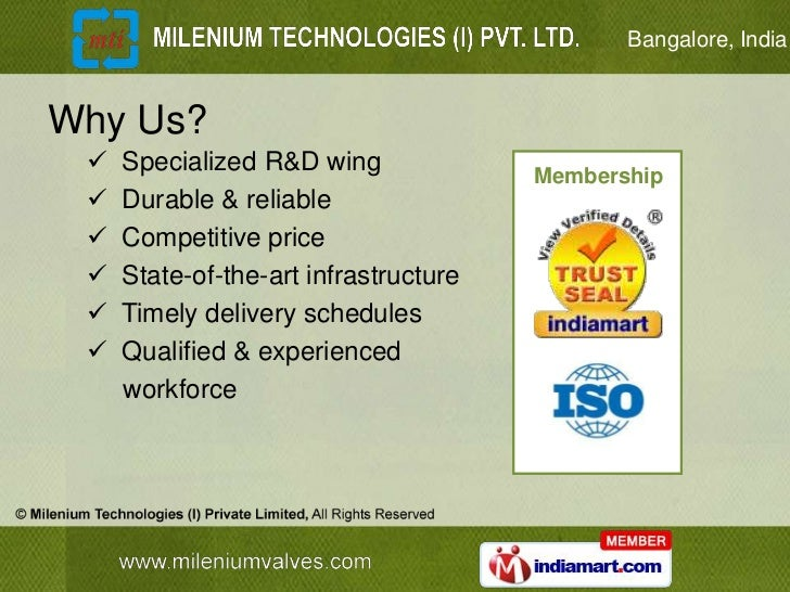 Bangalore, IndiaWhy Us?    Specialized R&D wing              Membership    Durable & reliable    Competitive price    ...