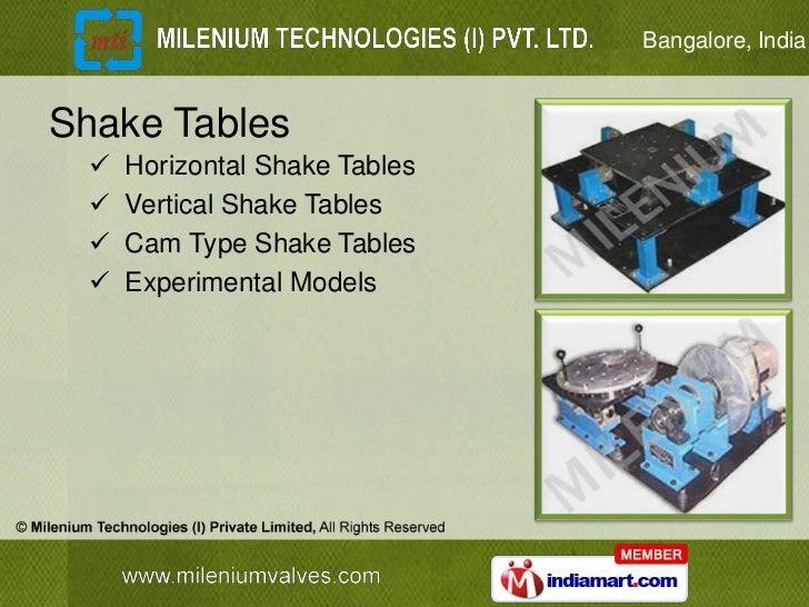 Bangalore, IndiaShake Tables     Horizontal Shake Tables     Vertical Shake Tables     Cam Type Shake Tables     Exper...