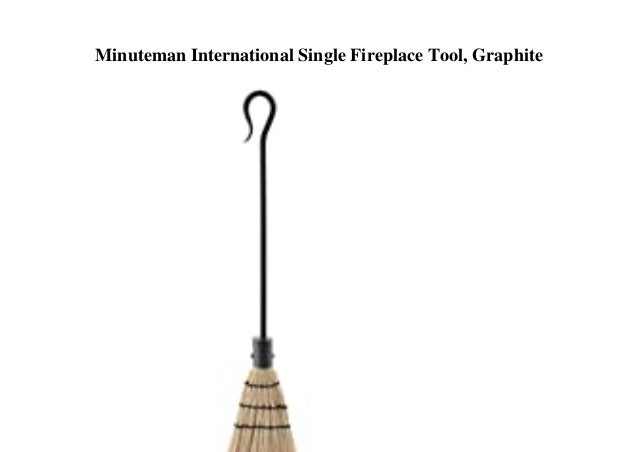 Minuteman International Single Fireplace Tool, Graphite