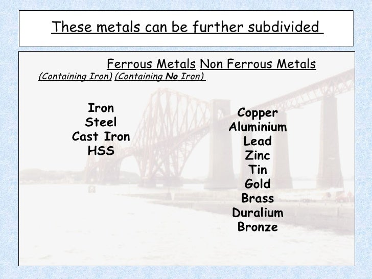Metals presentation study guide