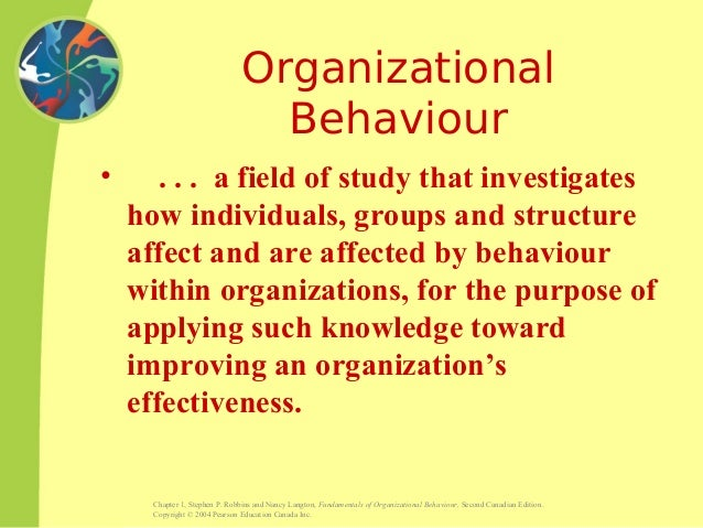ob chapter 1 study questions Chapter 1 • introduction to organizational behavior 3  4 chapter 1 • introduction to organizational  (ob) is the study of the many factors that have an.