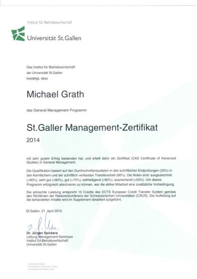 HSG Management Zertifikat