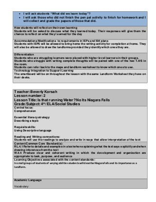 Edtpa Lesson Plan Template Lesson Plan Template Kennesaw State
