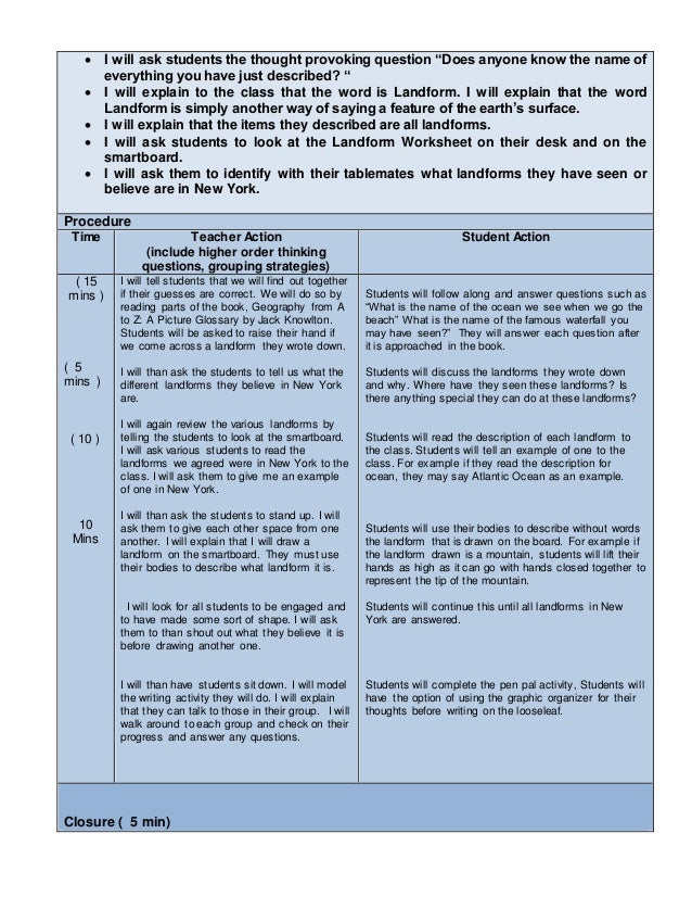 EdTPA Childhood Lesson Plan Template Lesson ALL - Lesson plan template special education