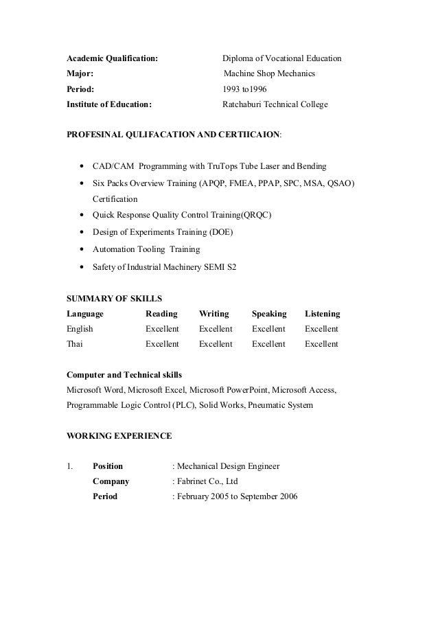 academic curriculum vitae template download