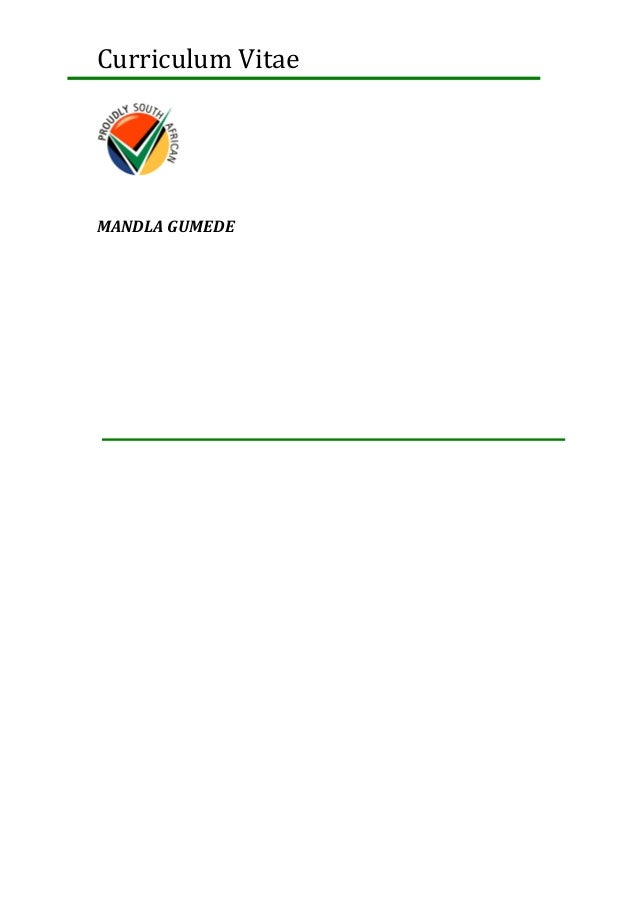 Curriculum Vitae MANDLA GUMEDE