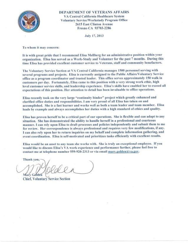 community service recommendation letters